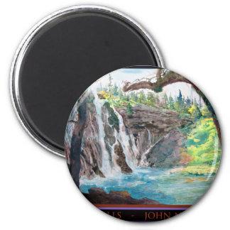 Burney Falls Watercolor Magnet