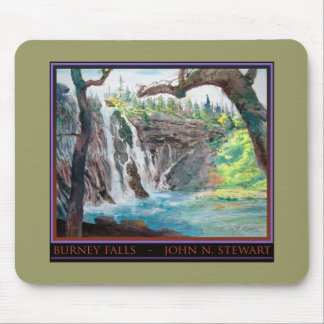Burney Falls Watercolor Mouse Pad