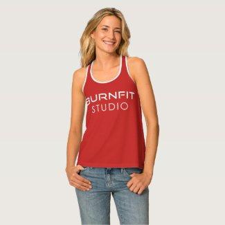 BurnFit Studio Red Women's Tank