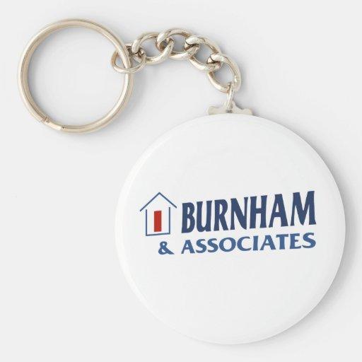 Burnham & Associates Basic Round Button Keychain