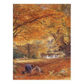 Burnham Beeches - Birket Foster Postcard