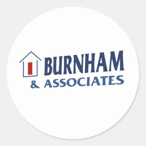 Burnham y socios etiqueta redonda