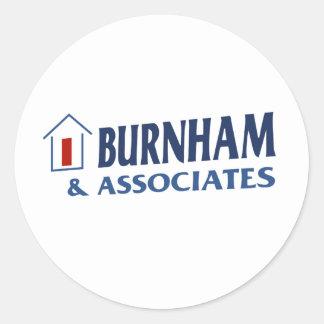 Burnham y socios pegatina redonda