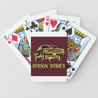 Burnin Rubber Bicycle Poker Cards