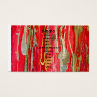 BURNING ABSTRACTION - Business Card