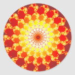 Burning Ambition - Fractal Classic Round Sticker