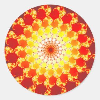 Burning Ambition - Fractal Round Sticker