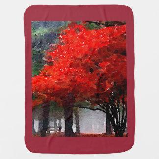 Burning Autumn Receiving Blanket