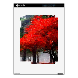 Burning Autumn Decal For iPad 2