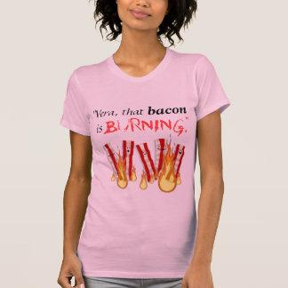 Burning bacon t shirt