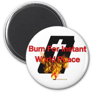 Burning Bible Magnet