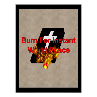 Burning Bible Poster