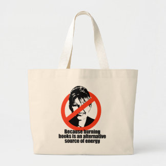 Burning books is a source of energy jumbo tote bag