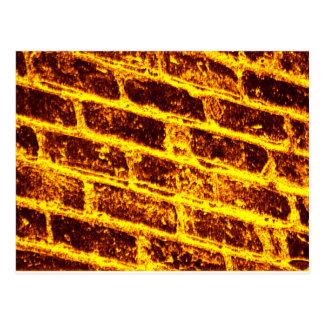 Burning Brick Wall Postcard