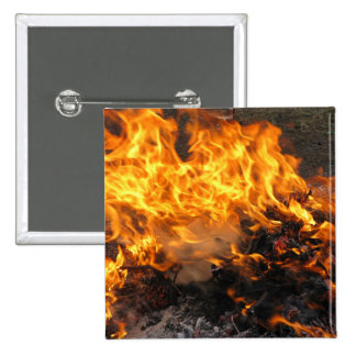 Burning Brush 2 Inch Square Button