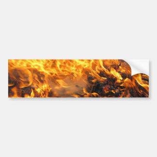 Burning Brush Car Bumper Sticker