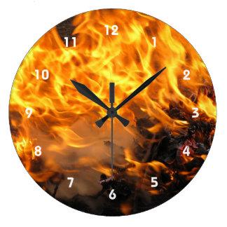 Burning Brush Clock
