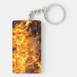 Burning Brush Double-Sided Rectangular Acrylic Keychain