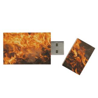 Burning Brush Flash Drive Wood USB 3.0 Flash Drive