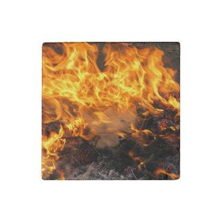 Burning Brush Stone Magnet