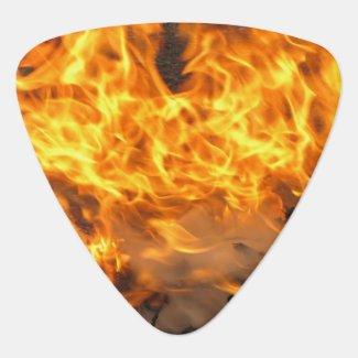 Burning Brush Guitar Pick