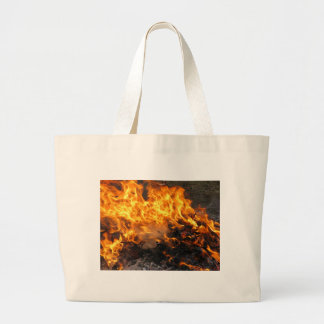 Burning Brush Large Tote Bag