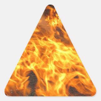 Burning Brush Triangle Sticker