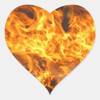 Burning Brush Heart Sticker