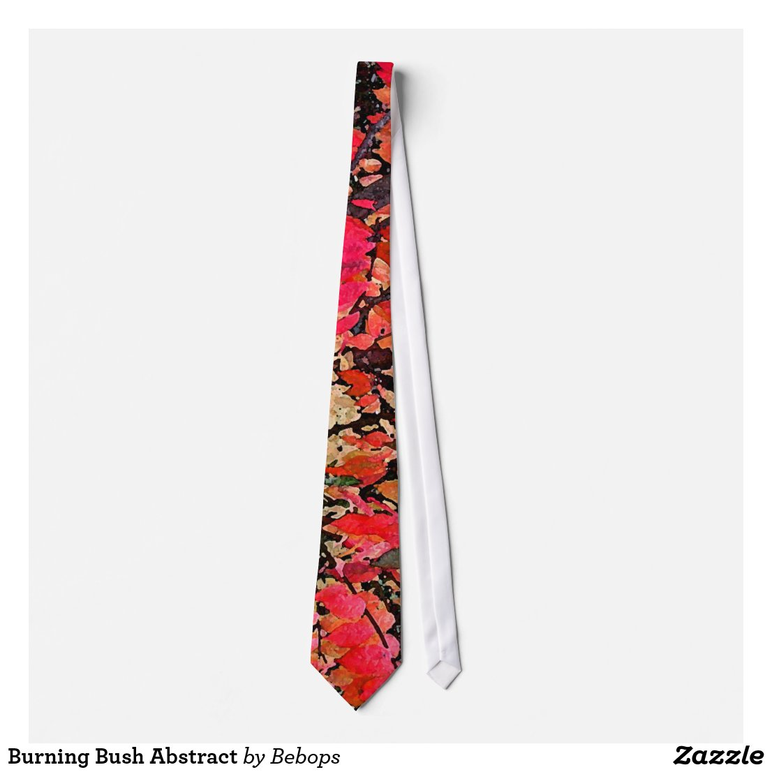 Burning Bush Abstract Neck Tie