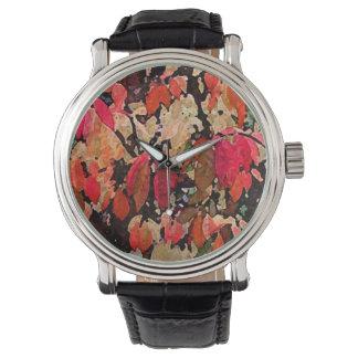 Burning Bush Abstract Watch