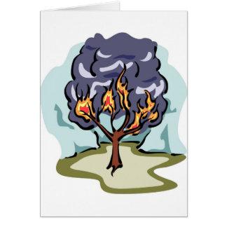 Burning Bush Christian artwork Card