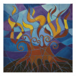 Burning Bush Mosaic II Print