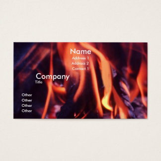 Burning Business Card