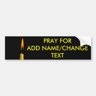 Burning Candle And Your Text Bumper Sticker