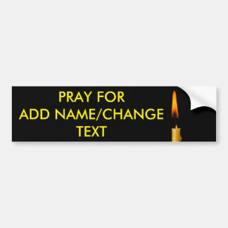 Burning Candle And Your Text Ver. 2 Bumper Sticker