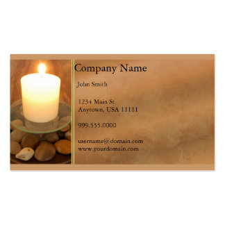 Burning Candle Business Card