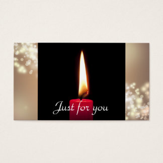 Burning Candle Business Gift Certificates