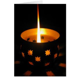 Burning Candle Greeting Card