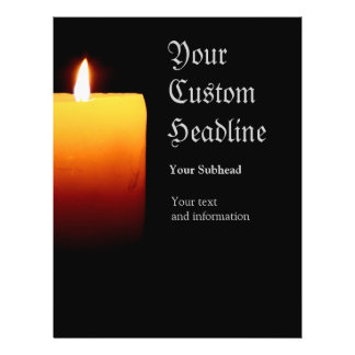 Burning Candle on Black with Custom Text Flyers