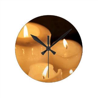 Burning Candles Wall Clocks