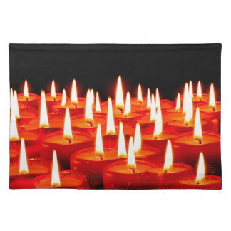 Burning candles cloth placemat