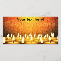 Burning candles - Merry Christmas Holiday Card