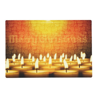 Burning candles - Merry Christmas Placemat