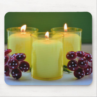 Burning candles mouse pad