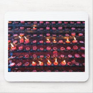 Burning Candles of Santa Nino Basilica Mouse Pad