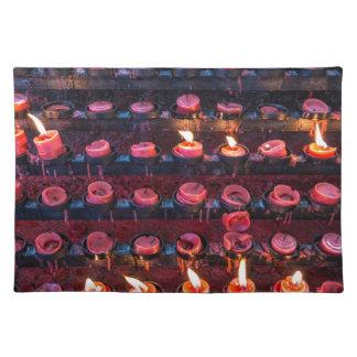 Burning Candles of Santa Nino Basilica Placemat