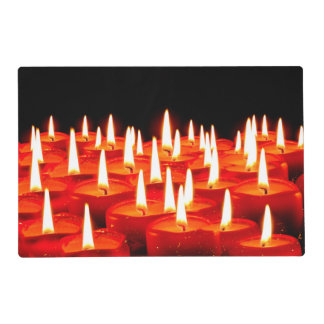 Burning candles placemat