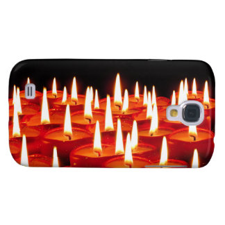 Burning candles samsung s4 case