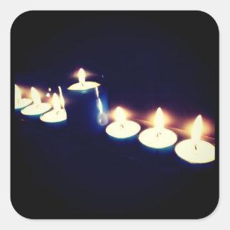 Burning candles sticker