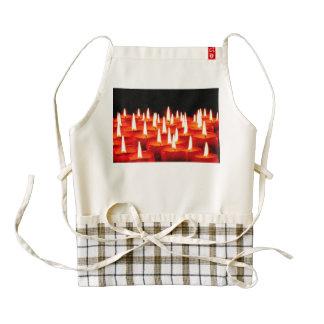 Burning candles zazzle HEART apron